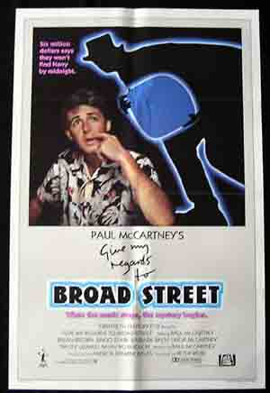 GIVE MY REGARDS TO BROAD STREET Paul McCartney 1 sht