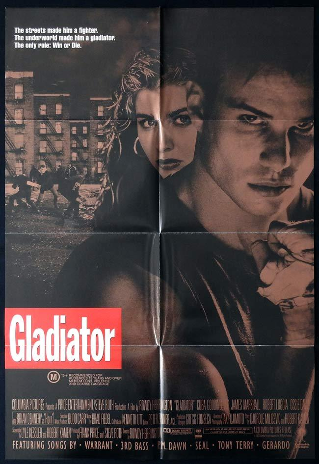 GLADIATOR Original One sheet Movie poster Cuba Gooding Jr.