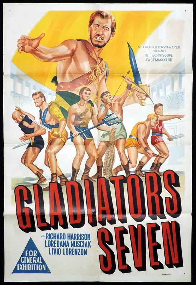 GLADIATORS SEVEN One Sheet Movie Poster Sword and Sandal