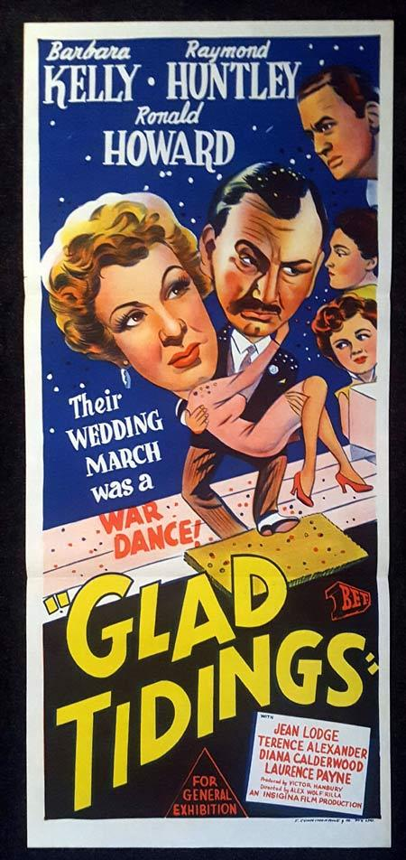 GLAD TIDINGS Daybill Movie poster Barbara Kelly Raymond Huntley