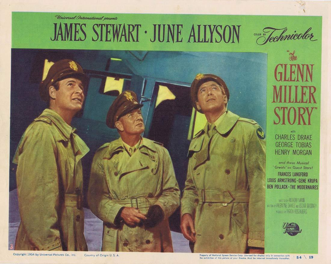 THE GLENN MILLER STORY Vintage Movie Lobby Card 3 James Stewart June Allyson