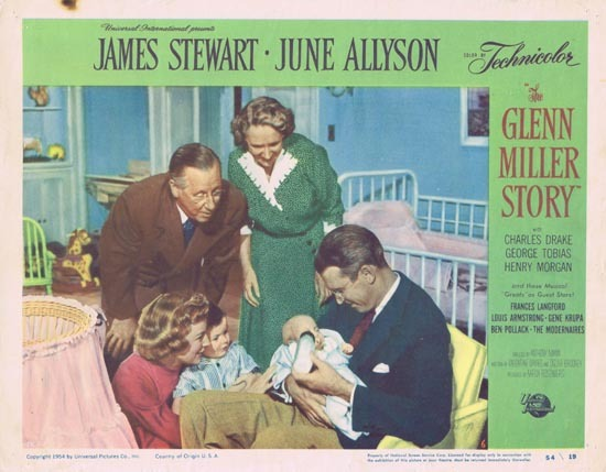 GLENN MILLER STORY Lobby Card 6 1954 James Stewart