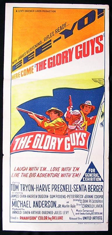 THE GLORY GUYS Original Daybill Movie Poster Tom Tyron Harve Presnell