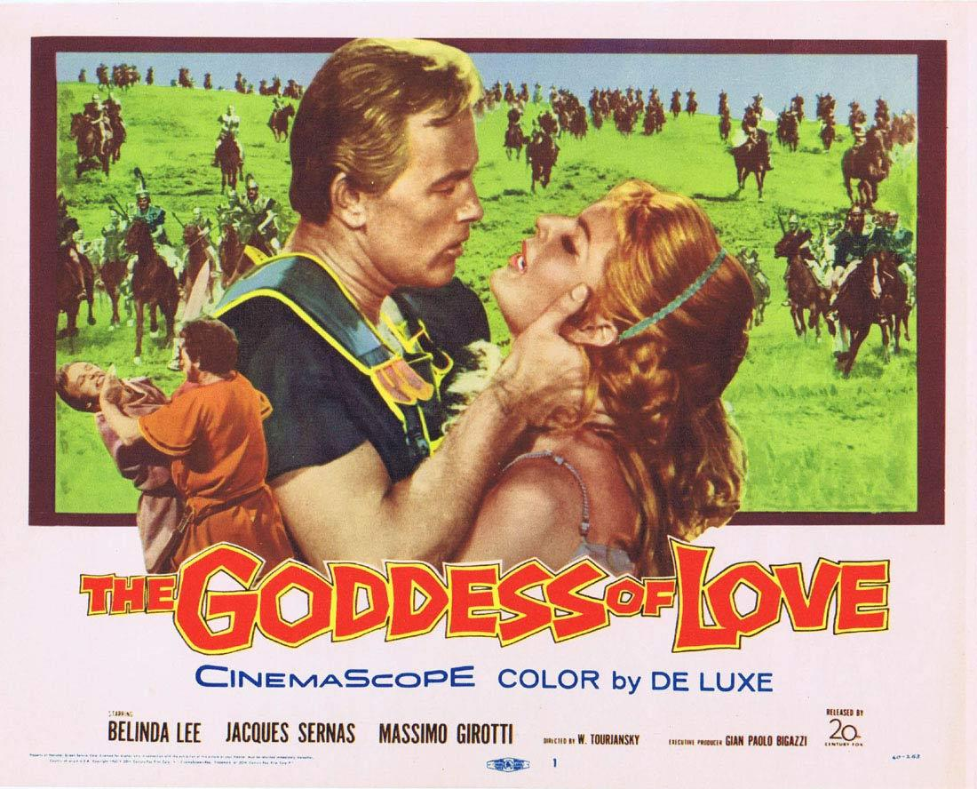 THE GODDESS OF LOVE Belinda Lee Title Lobby card