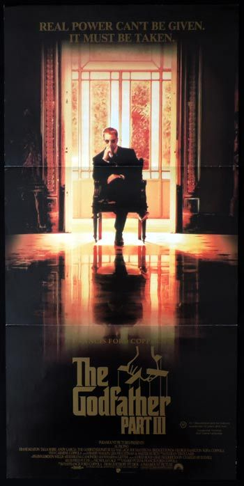 THE GODFATHER III Daybill Movie poster Al Pacino