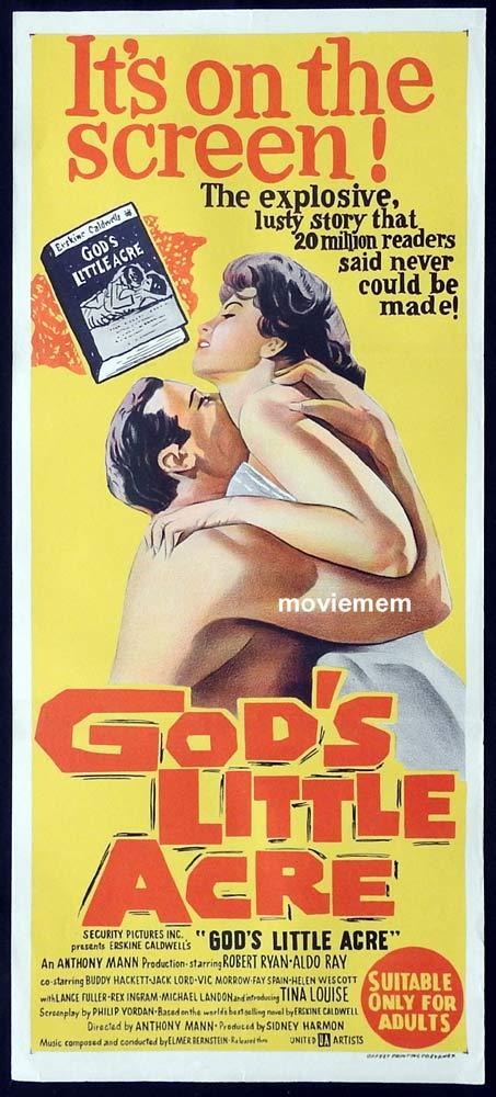 GOD'S LITTLE ACRE Original Daybill Movie Poster Robert Ryan Aldo Ray