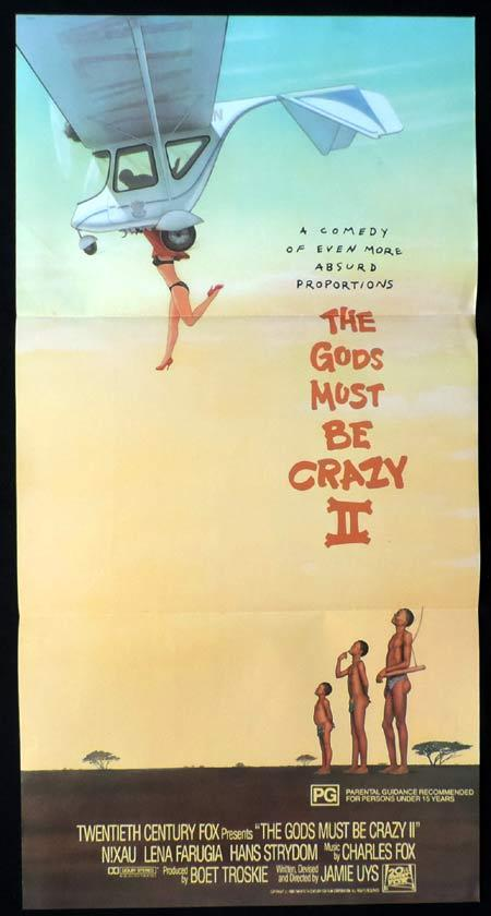 THE GODS MUST BE CRAZY II Original Daybill Movie poster