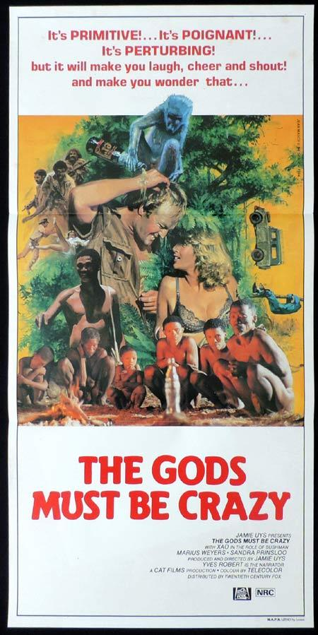 THE GODS MUST BE CRAZY Original Daybill Movie poster