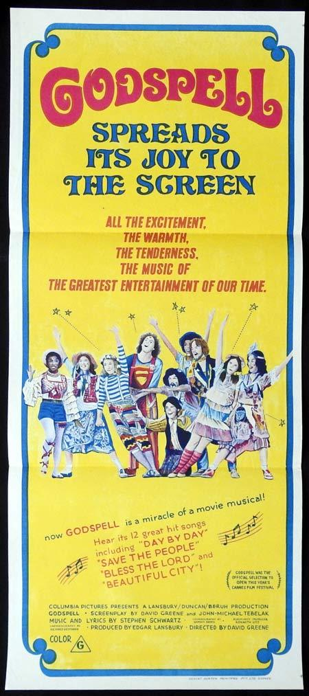 GODSPELL Original Daybill Movie Poster David Haskell Victor Garber