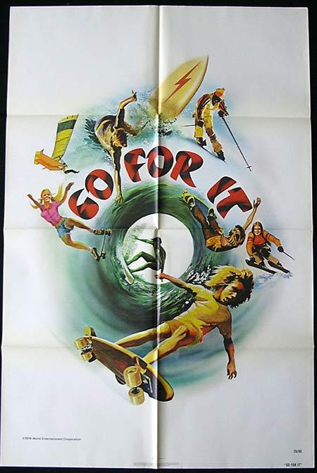 GO FOR IT, Original US One sheet, Movie poster, SURFING Skateboarding, 1976