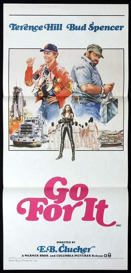 GO FOR IT Original Daybill Movie Poster Terence Hill Bud Spencer Buffy Dee