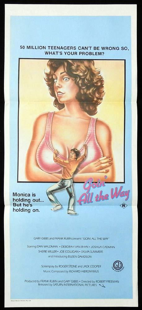 GOIN ALL THE WAY Daybill Movie poster Dan Waldman Deborah Van Rhyn