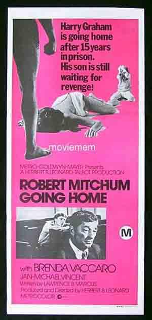 GOING HOME Original Daybill Movie poster Robert Mitchum Brenda Vaccaro