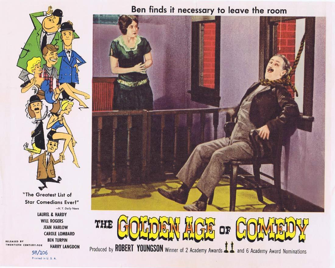 THE GOLDEN AGE OF COMEDY Vintage Lobby Card BEN TURPIN Robert Youngson