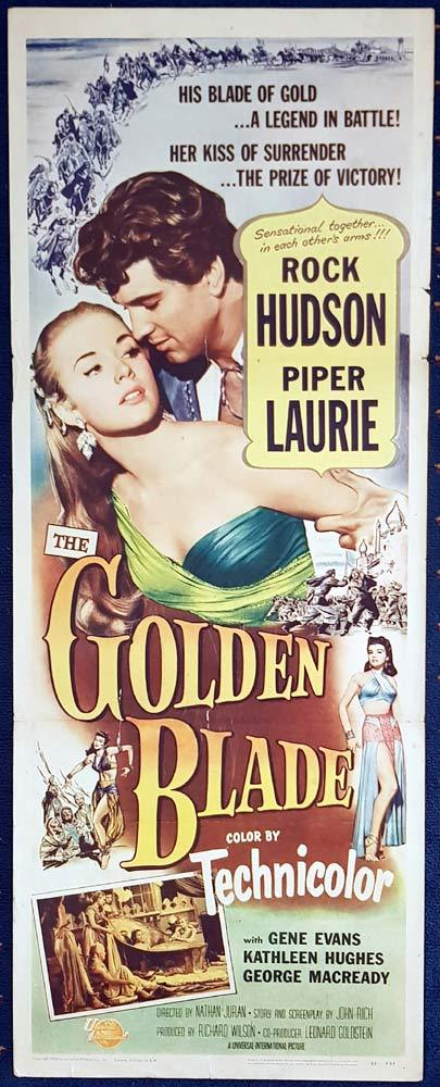 THE GOLDEN BLADE Movie Poster Rock Hudson US Insert