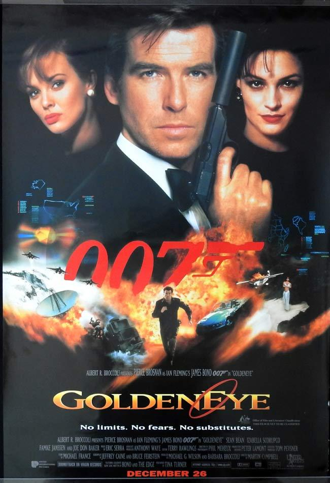 GOLDENEYE 1995 James Bond ROLLED DS Australian 1 sheet movie poster