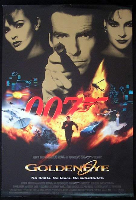 "GOLDENEYE 1995 James Bond US International 1 sheet poster ""A"""