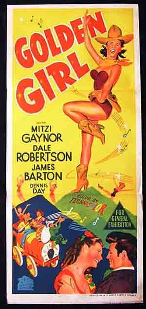 GOLDEN GIRL Original Daybill Movie poster Mitzi Gaynor