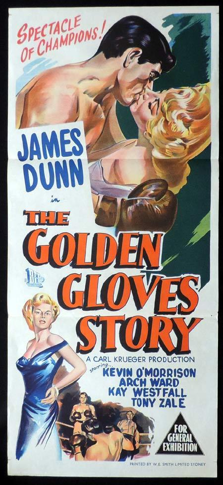 THE GOLDEN GLOVES STORY Original Daybill Movie Poster James Dunn Boxing
