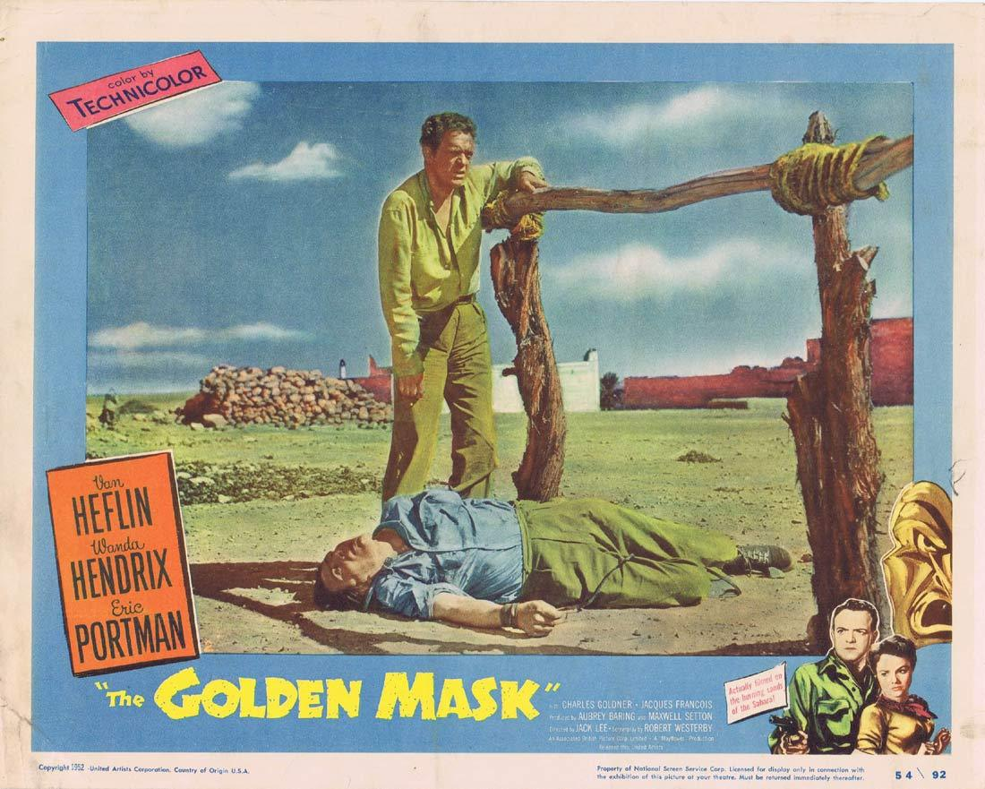 THE GOLDEN MASK Original Lobby Card 2 Van Heflin Wanda Hendrix