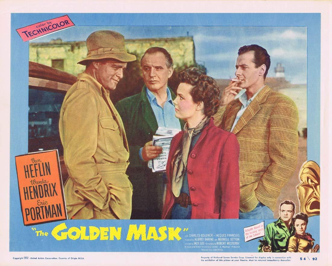 THE GOLDEN MASK Original Lobby Card 4 Van Heflin Wanda Hendrix