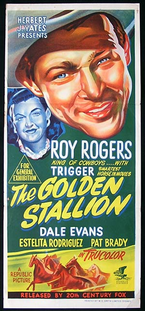 THE GOLDEN STALLION Daybill Movie poster 1949 Roy Rogers
