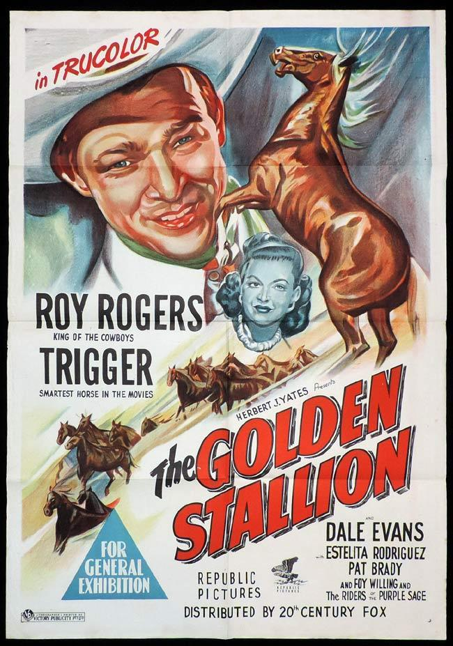 THE GOLDEN STALLION Original One sheet Movie Poster Roy Rogers VERY RARE