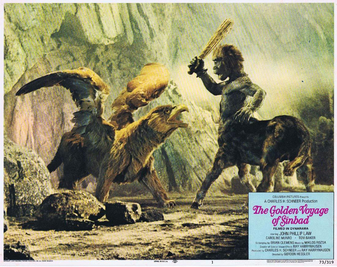 THE GOLDEN VOYAGE OF SINBAD Original Lobby Card 1 Ray Harryhausen
