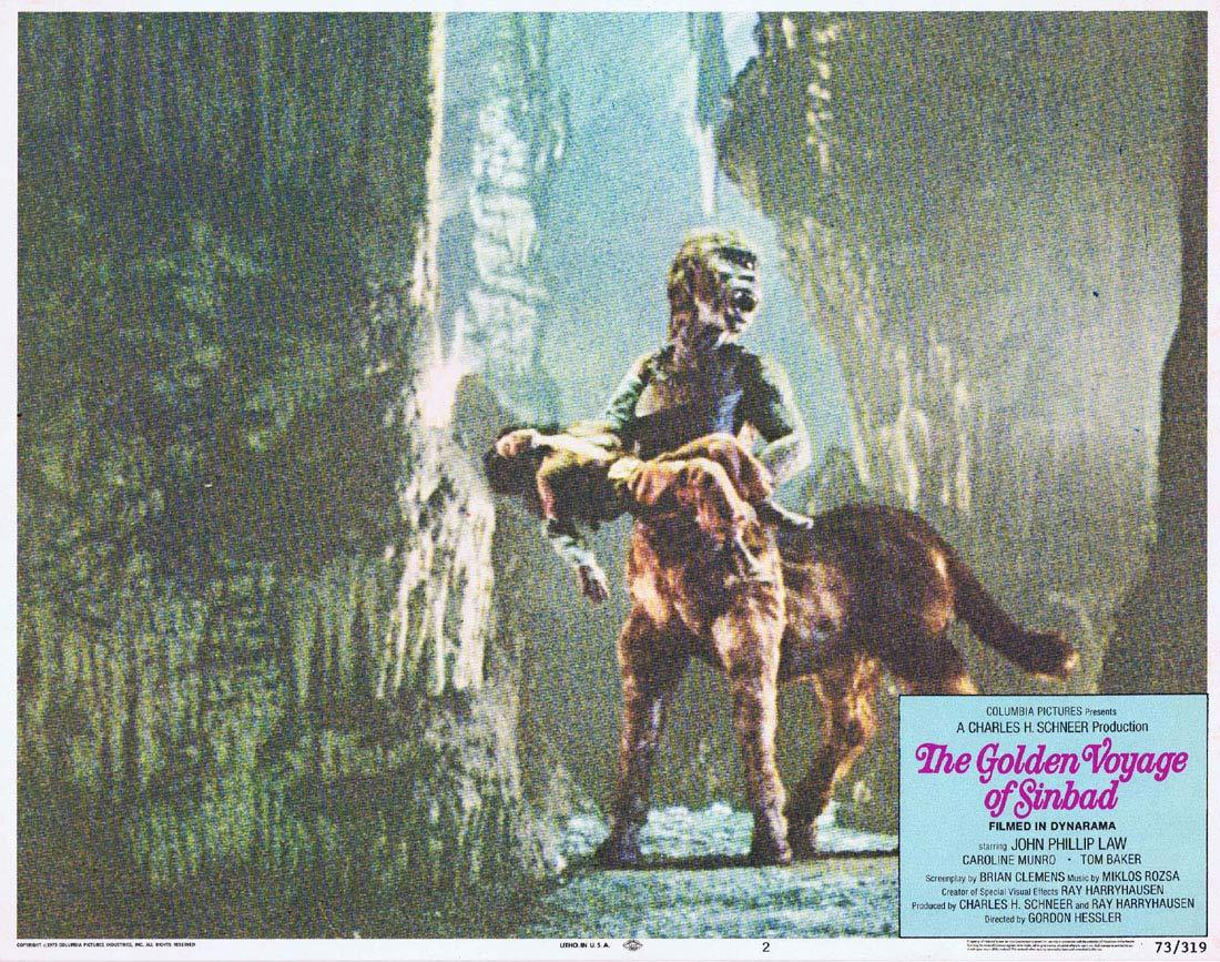 THE GOLDEN VOYAGE OF SINBAD Original Lobby Card 2 Ray Harryhausen