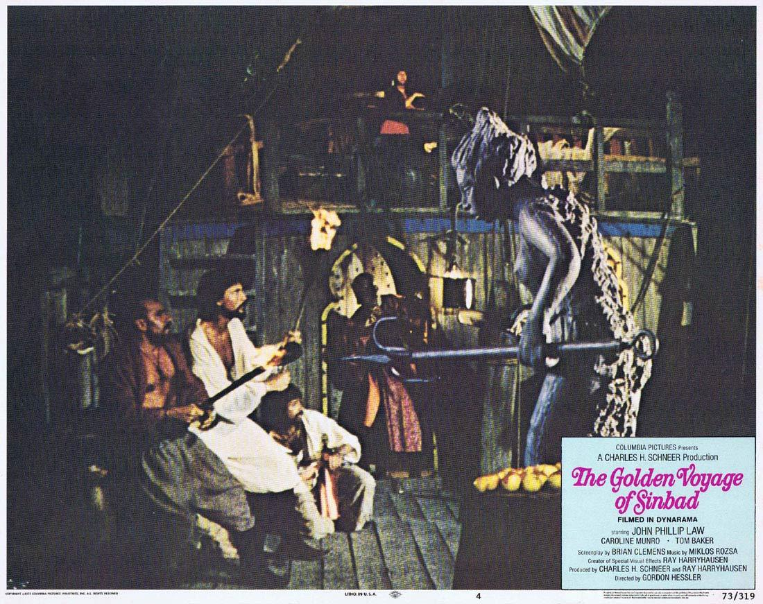 THE GOLDEN VOYAGE OF SINBAD Original Lobby Card 4 Ray Harryhausen