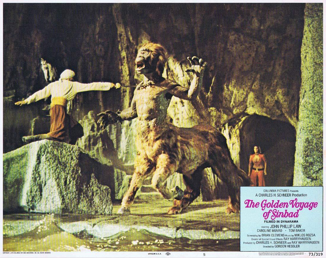 THE GOLDEN VOYAGE OF SINBAD Original Lobby Card 5 Ray Harryhausen