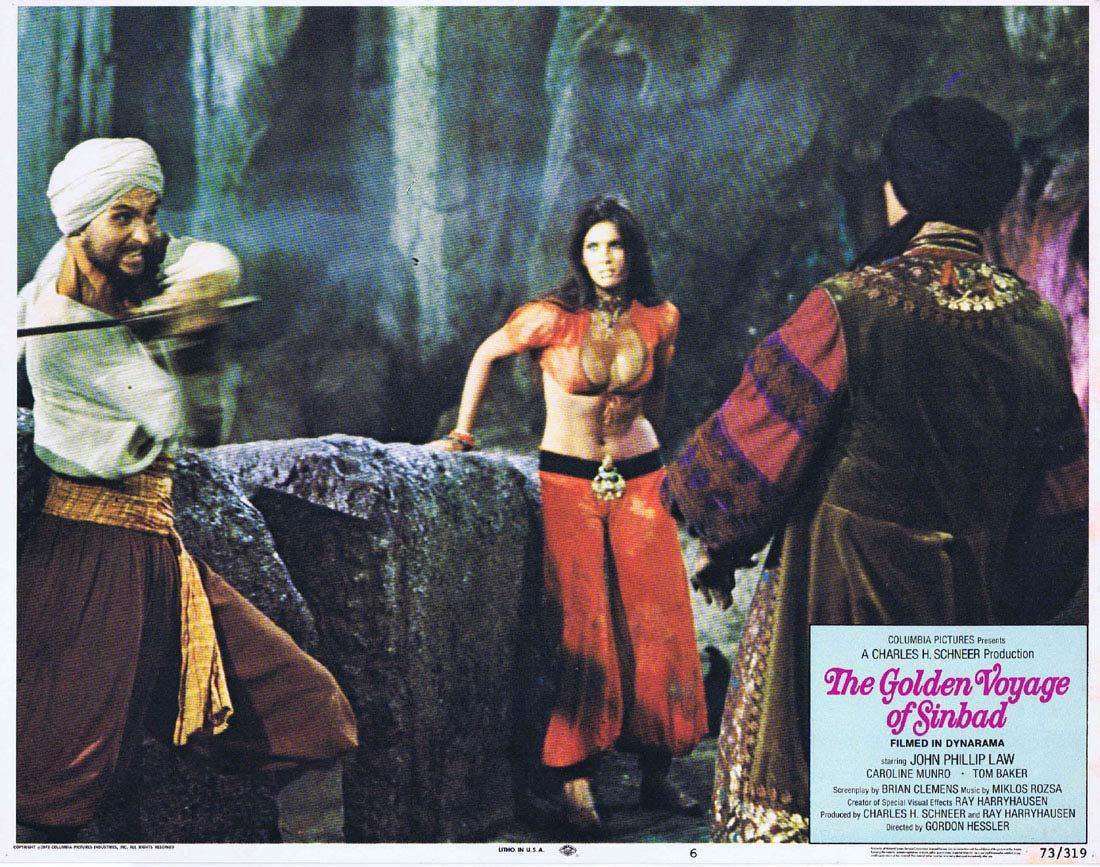 THE GOLDEN VOYAGE OF SINBAD Original Lobby Card 6 Ray Harryhausen