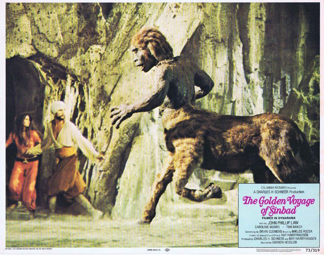 THE GOLDEN VOYAGE OF SINBAD Original Lobby Card 8 Ray Harryhausen