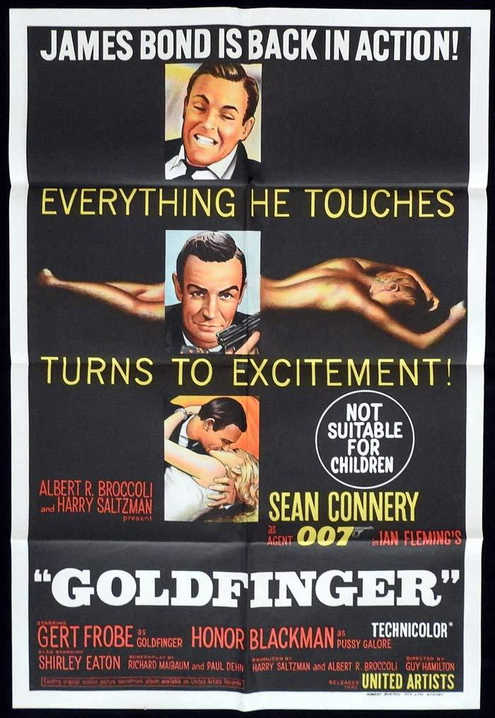 Goldfinger, Guy Hamilton, Sean Connery, Honor Blackman, Gert Fröbe
