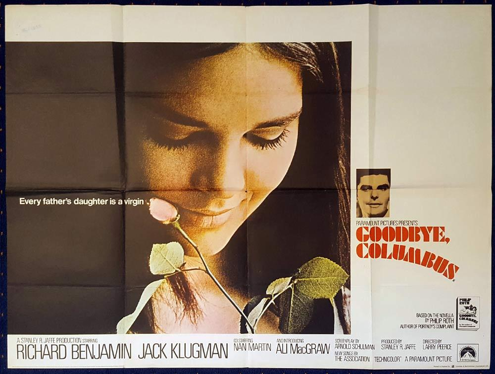 GOODBYE COLUMBUS Original British Quad poster Richard Benjamin