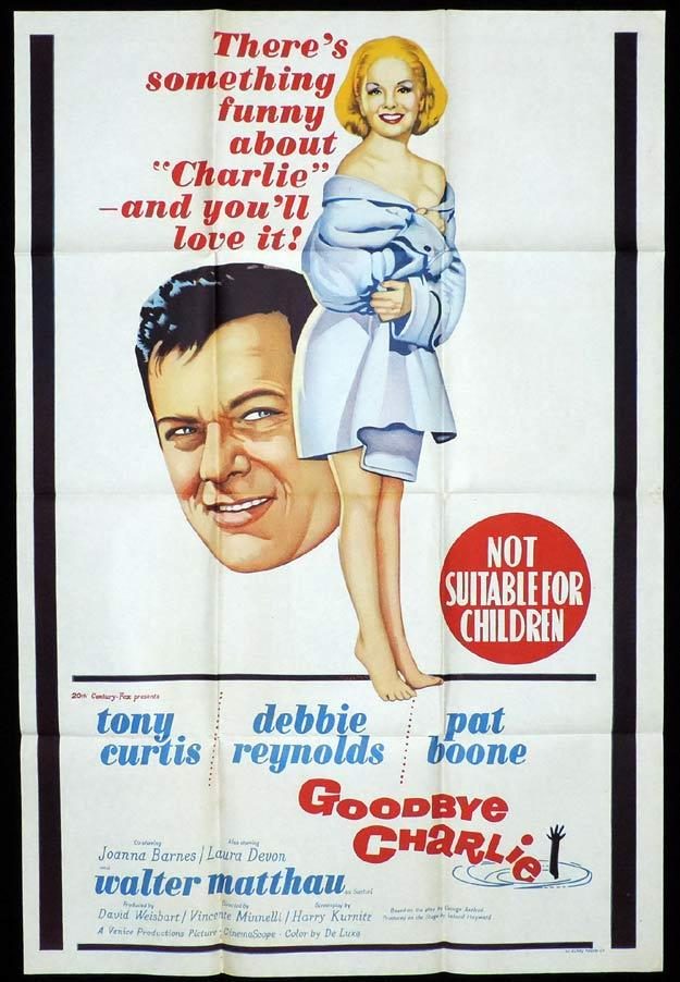 GOODBYE CHARLIE One Sheet Movie Poster Debbie Reynolds Tony Curtis