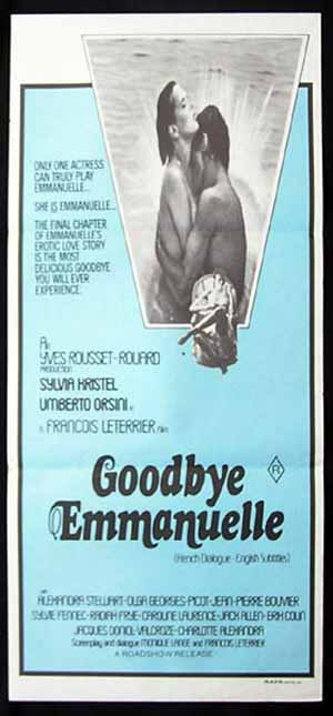 GOODBYE EMMANUELLE Original Daybill Movie Poster Sylvia Kristel Sexploitation