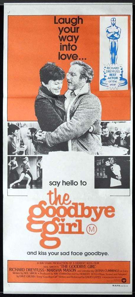 THE GOODBYE GIRL Original Daybill Movie poster Richard Dreyfuss