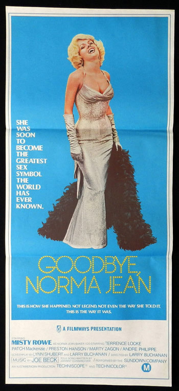 GOODBYE NORMA JEAN, Marilyn Monroe, Australian Daybill, Movie poster