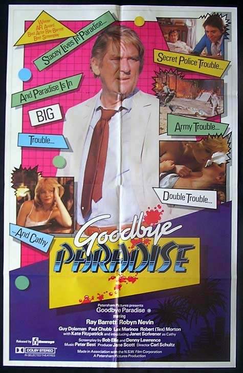GOODBYE PARADISE 1983 Ray Barrett Australian One sheet Movie poster