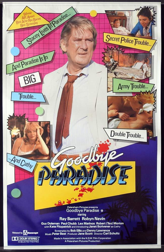 GOODBYE PARADISE Original ROLLED One sheet Movie poster Ray Barrett