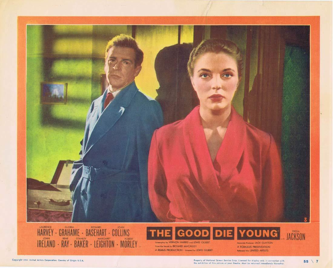 THE GOOD DIE YOUNG Original Lobby Card 5 Laurence Harvey Gloria Grahame