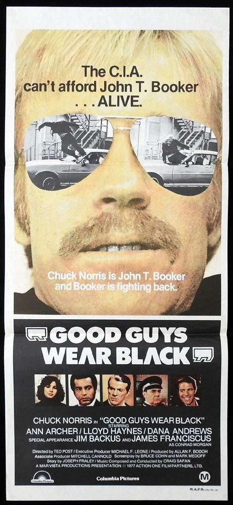 GOOD GUYS WEAR BLACK Daybill Movie poster Chuck Norris