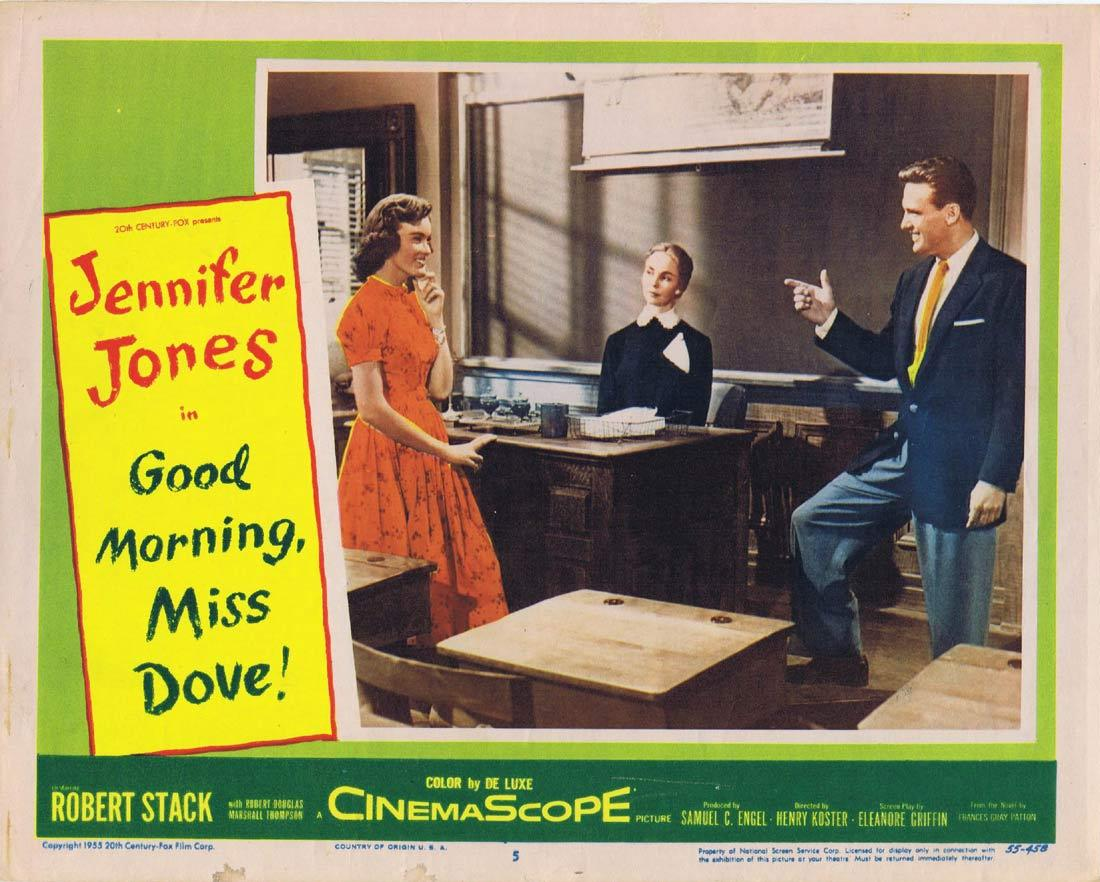 GOOD MORNING MISS DOVE Original Lobby Card 5 Jennifer Jones Robert Stack