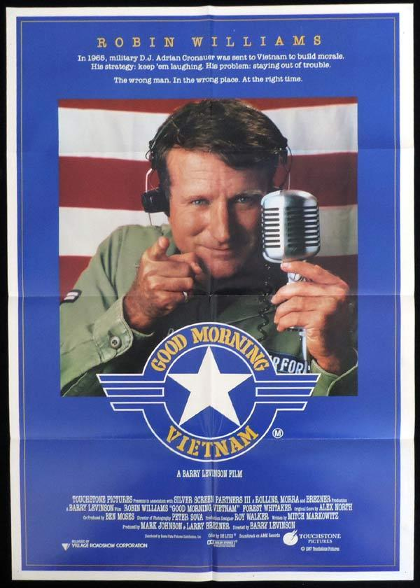 an analysis of good morning vietnam by robin williams Good morning, vietnam is a 1987 film starring robin williams about a rock dj assigned to the us armed services radio station in vietnam writen by mitch.