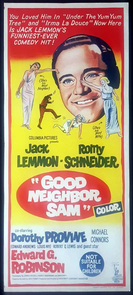 GOOD NEIGHBOR SAM Original Daybill Movie Poster Jack Lemmon Romy Schneider