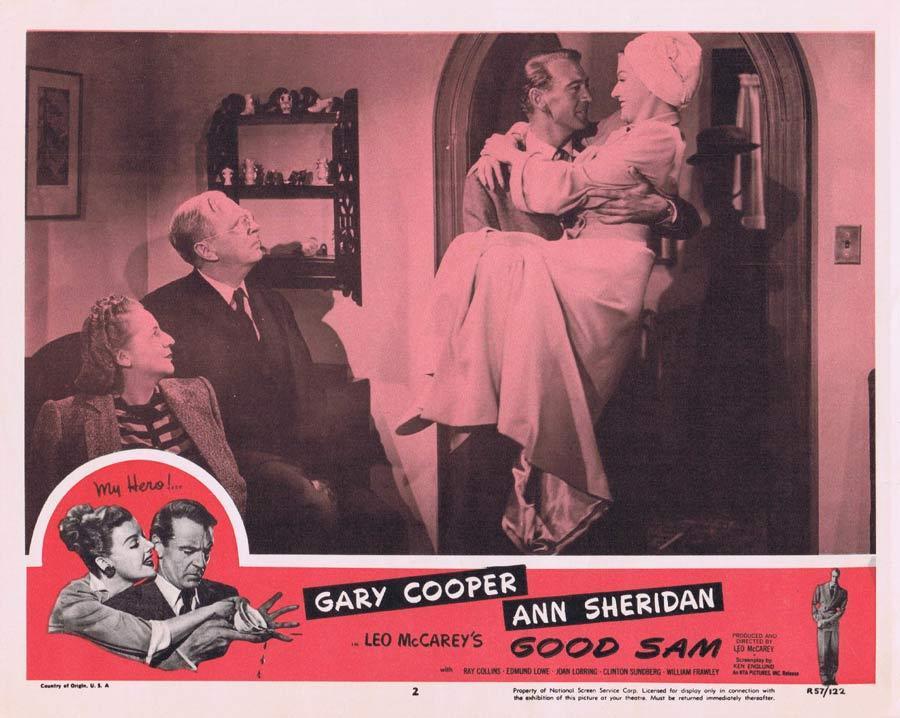 GOOD SAM Lobby Card Gary Cooper Ann Sheridan