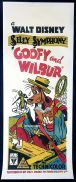 GOOFY AND WILBUR Original Long Daybill Movie poster VERY RARE Disney