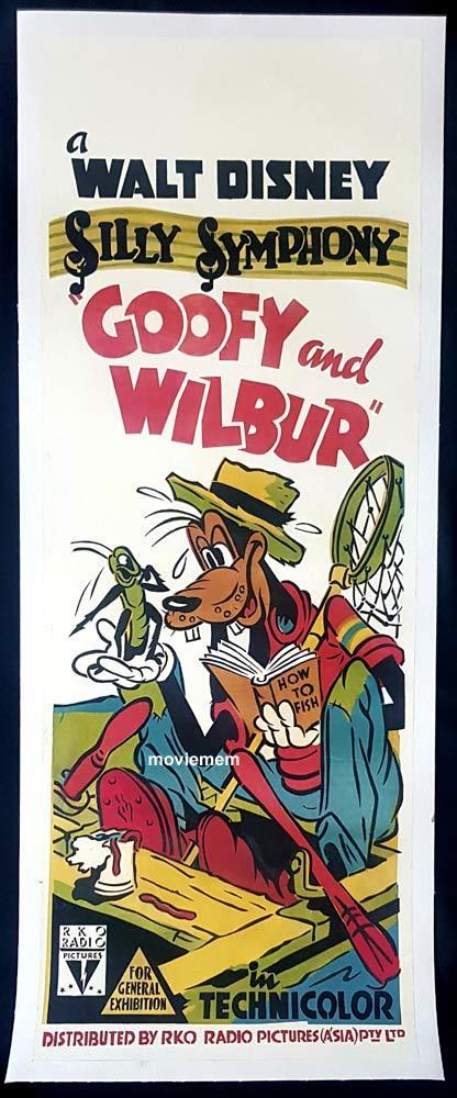 GOOFY AND WILBUR Original Long Daybill Movie poster VERY RARE Disney
