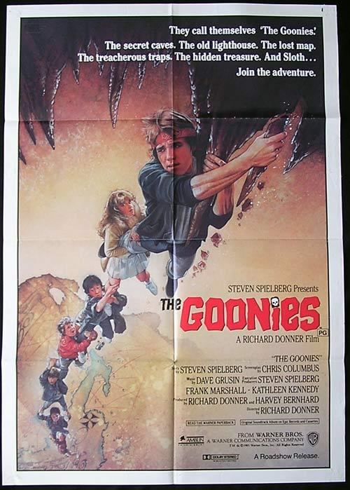 THE GOONIES Original Australian One sheet Movie poster Artist Drew Struzan art